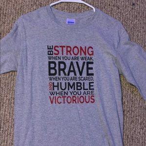 long sleeve inspirational t shirt